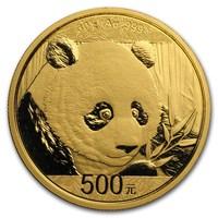 30 Gramm Goldmünze Panda BU 2018