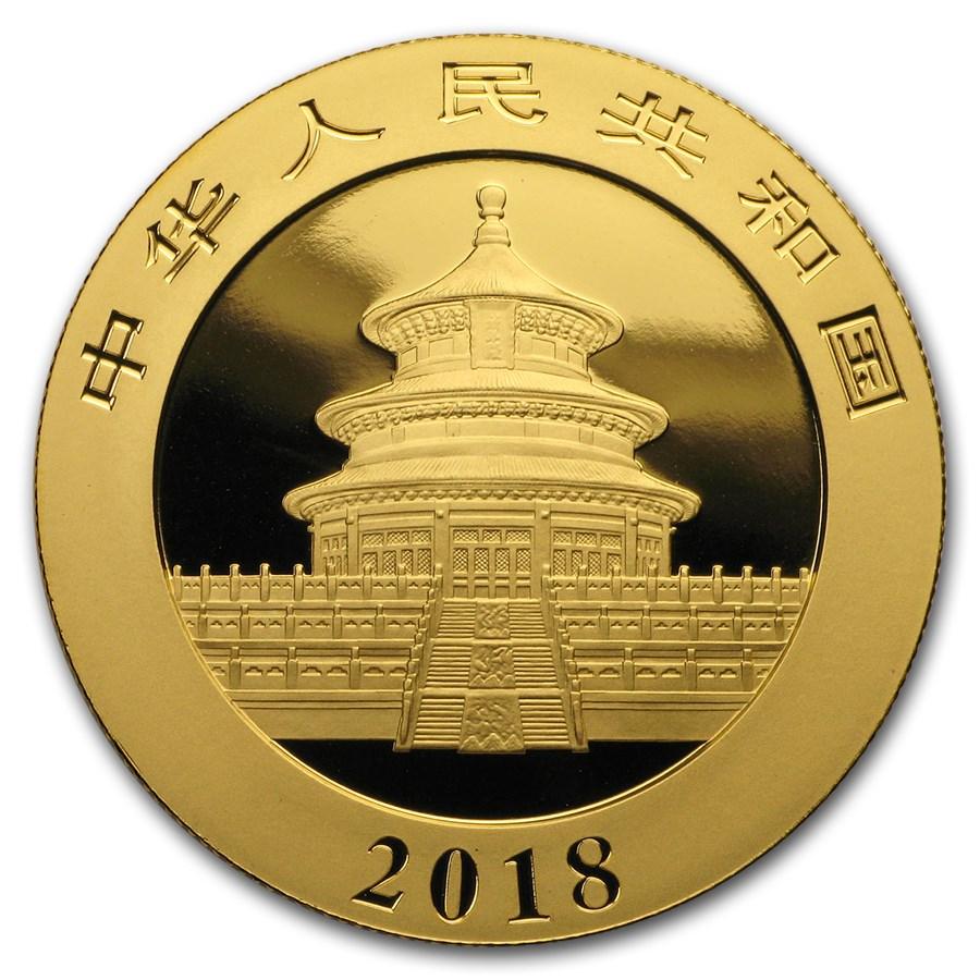 2018 China 30 gram Gold Panda BU