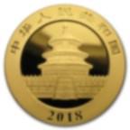 30 grammes pièce d'or pur 999.0 - Panda BU 2018