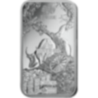 investir dans l'or, 1 once Lingot, Lingotin d'argent Pur Lunar Boeuf - PAMP Suisse - Back