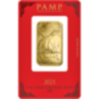 Investir dans l'or, 1 once Lingotin, Lingot d'or pur Lunar Boeuf - PAMP Suisse